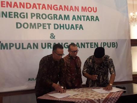 Perkumpulan urang Banten gandeng dompet duafa bantu warga kurang mampu di daerah pinggiran