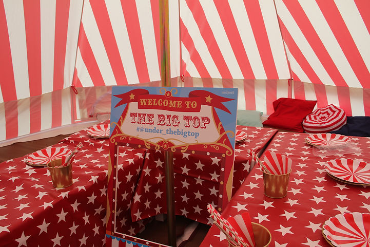 Under the big top bell tent hire and events