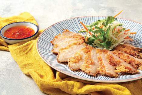 Fried Pork Neck marinated with Fermented Tofu