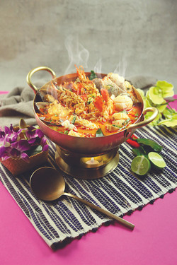Seafood Tom Yum Kung with Fish Maw