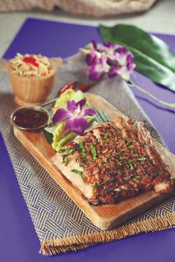 Grilled Pork Neck with Papaya Salad