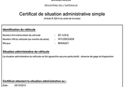 Certificat situation administrative