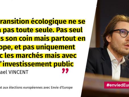 MICHAEL VINCENT — CANDIDAT aux ÉLECTIONS EUROPÉENNES AVEC ENVIE D'EUROPE