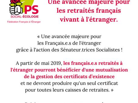 Certificats d'existence mutualisés grâce à la ténacité de nos Sénatrices et Sénateurs