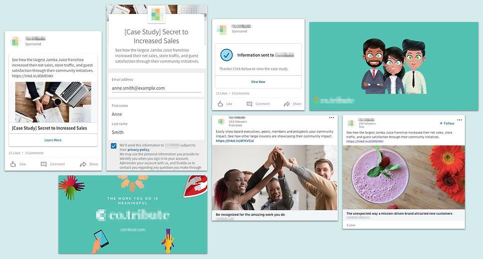 Ads for SaaS Registrations Screenshots Community Engagement Platform