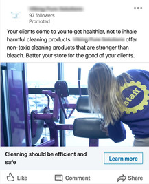 Cleaning Solution Provider - Traffic to Landing Page