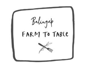 Farm to Table - Sunday 7th April