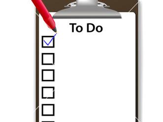 December/January To-Do List for Juniors