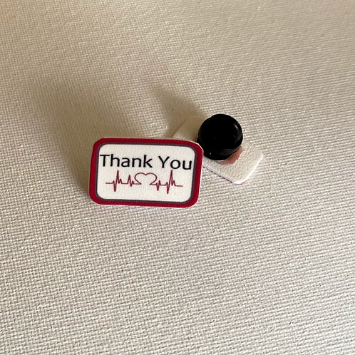 TY108 medical THANK YOU pins