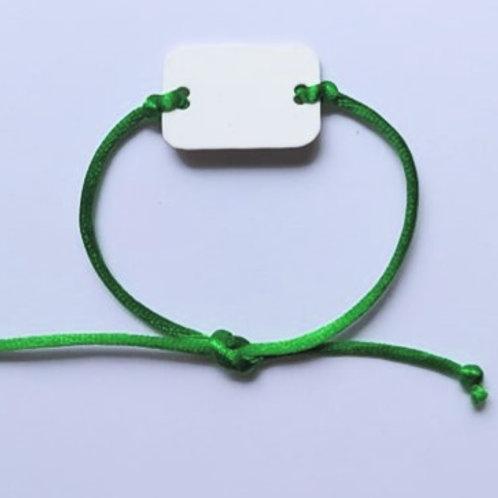 BR600 Custom Charm Satin Cord TIE Bracelets (all colors)