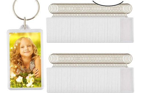 Custom Personalised Insert Photo Acrylic Blank Keyring