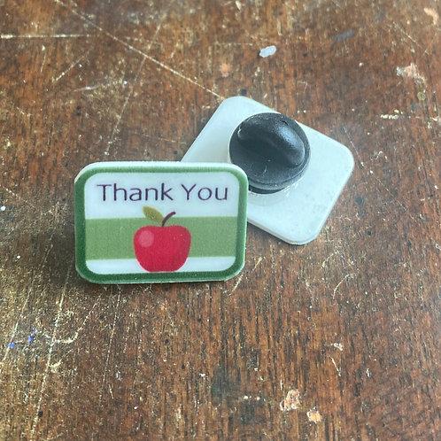 Teacher Thank You Pin