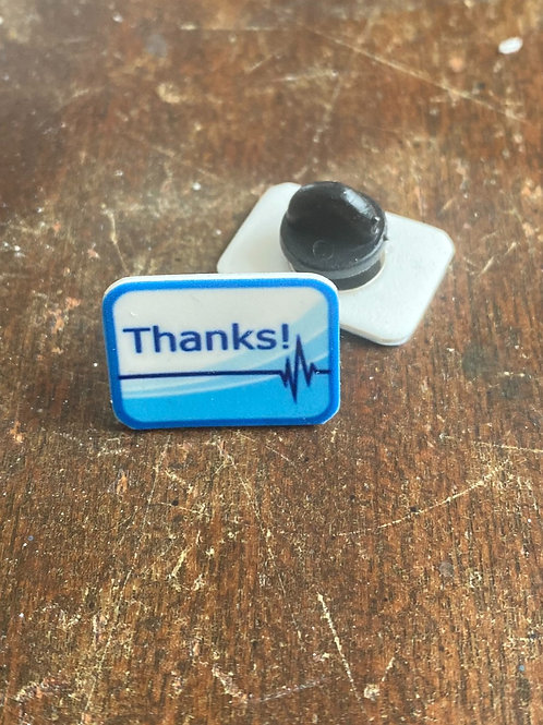 Blue Medical Thank You Pin