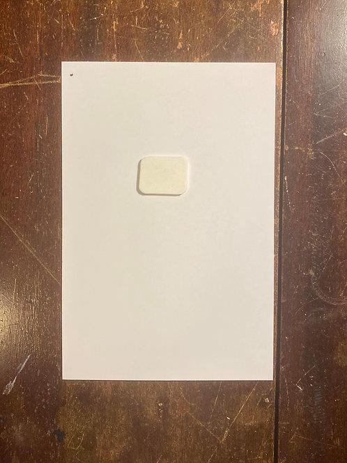 "Custom 4.25"" x 5.5  (1/4 SHEET)"" card with custom pin"