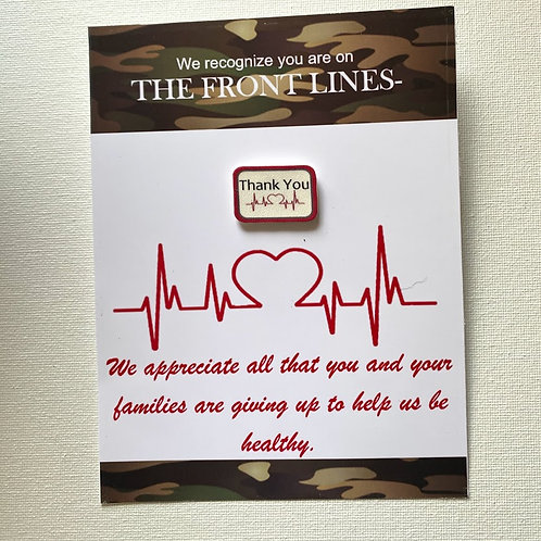 TY106 Medical THANK YOU card and pin