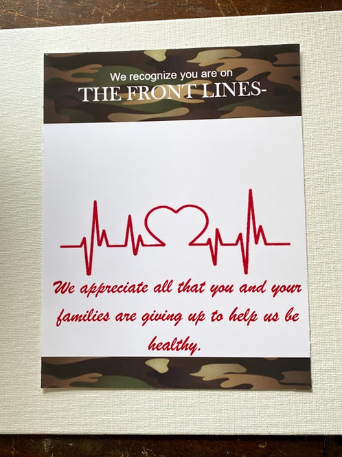 TY105 Medical Staff Thank You card (you apply a gift)
