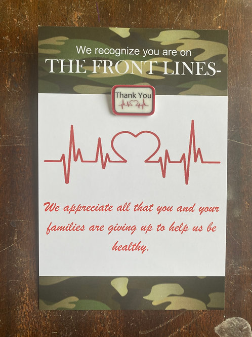 Medical Thank You Card and Pin