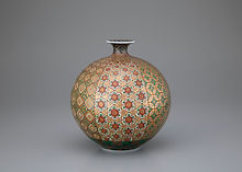 4. 金緑彩幾何紋花瓶.jpg