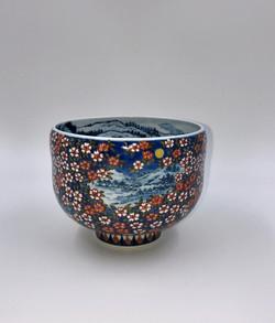 「月に桜図抹茶碗」