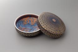 「火の鳥紋様陶筥」