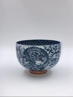 「飛龍河鯉之図抹茶碗」
