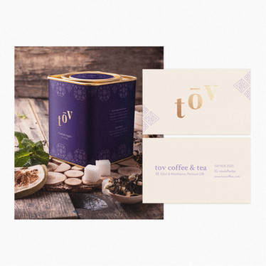 Tov Coffee & Tea Branding