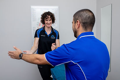 physio assessing a patient