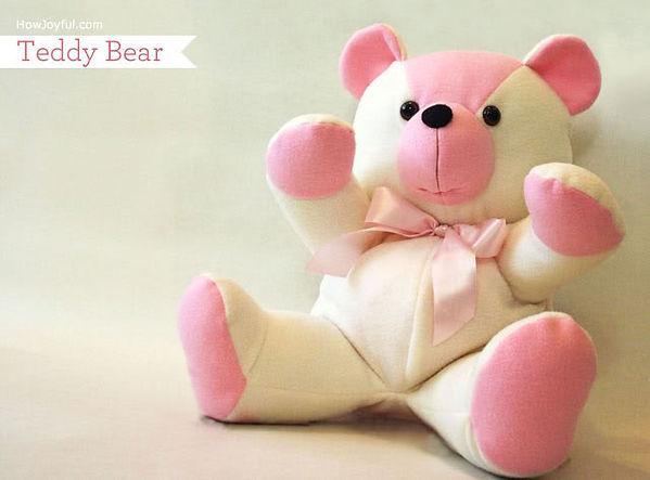 sewing a teddy bear