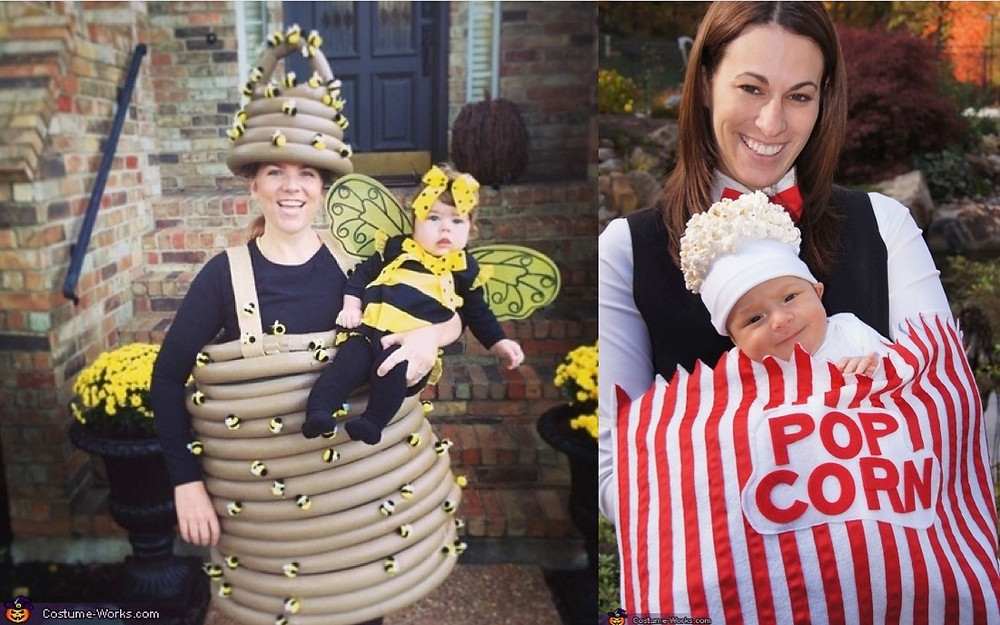 Mom and baby costumes