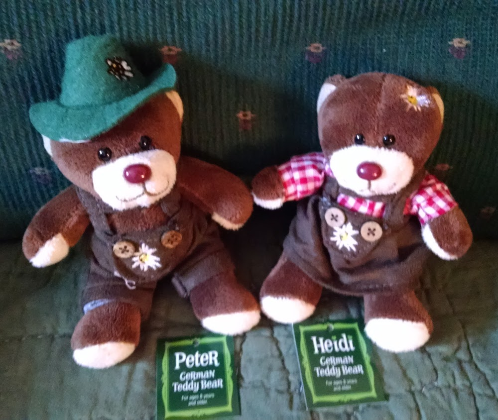 Heidi and Peter Oktobear Fest bears