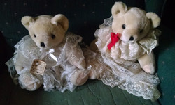Charlotte Anne and Lilibet Rose bears