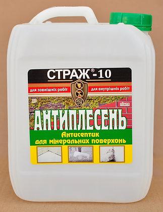 Антипліснява. Антисептик для мінеральних поверхонь STRAZH-10 (5л)