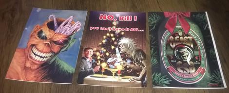 Iron Maiden Joulukortteja