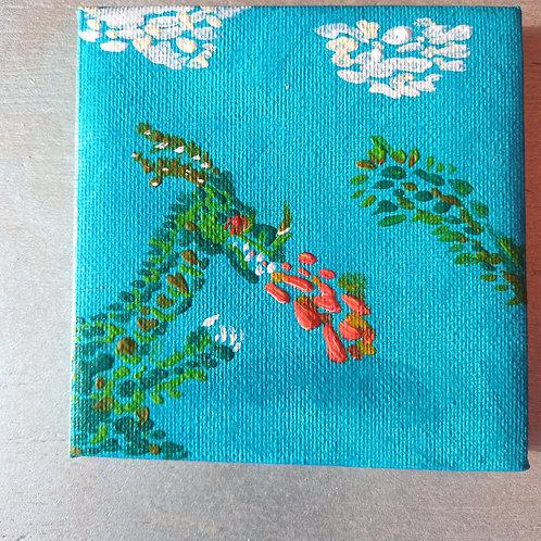 Brosderie, le dragon mosaïque