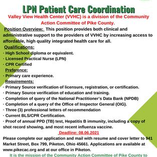 CAC Patient Care Coordination - LPN