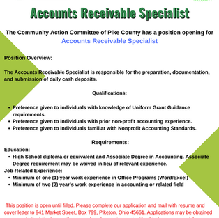 Accounts Receivable Specialist
