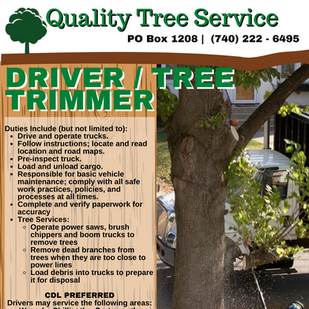 Driver / Tree Trimmer