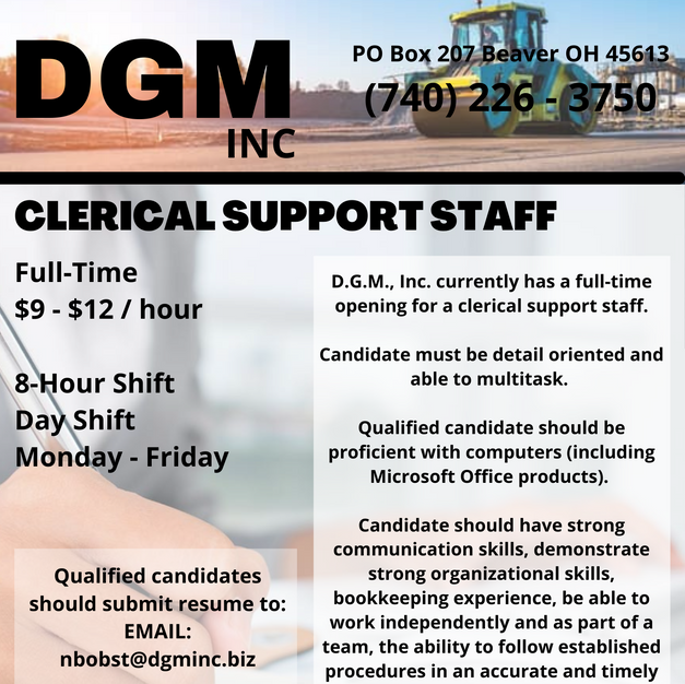 Clerical Support Staff