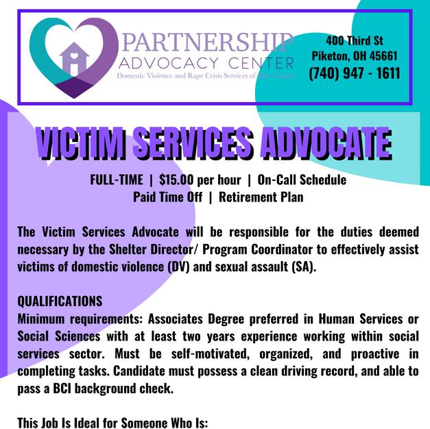 Victim Services Advocate