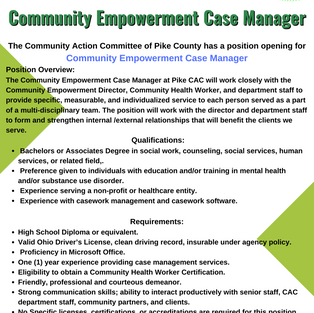Community Empowerment Case Manager