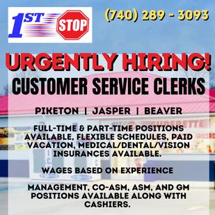 Customer Service Clerks