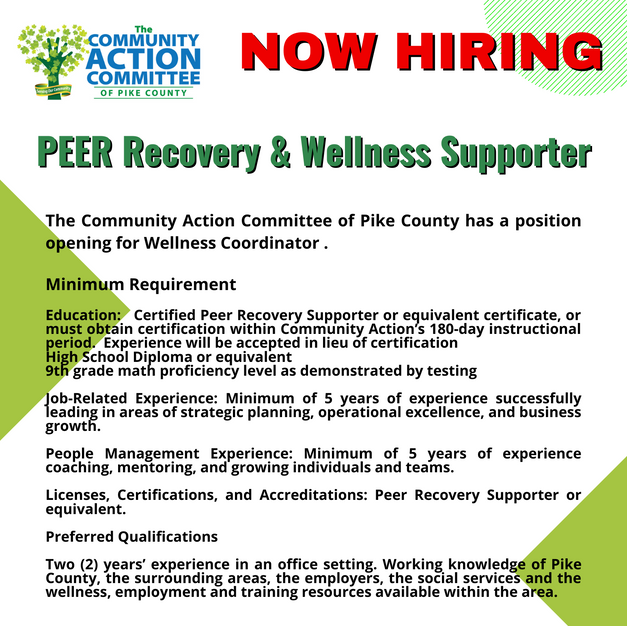 Peer Recovery & Wellness Supporter