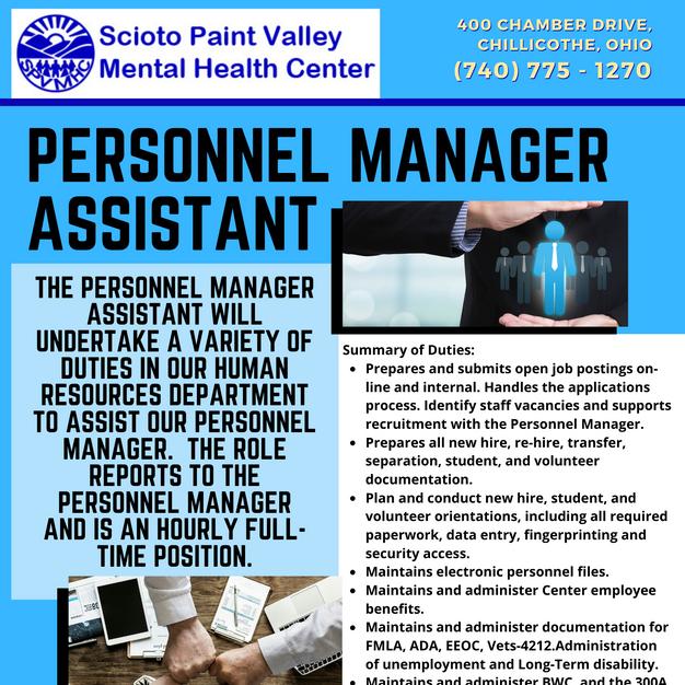 Personnel Manager Asst