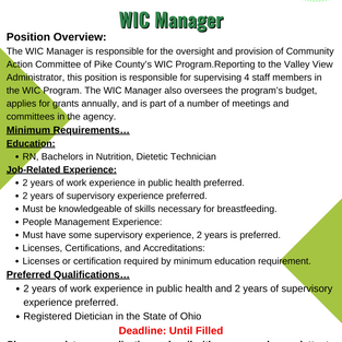 WIC Manager