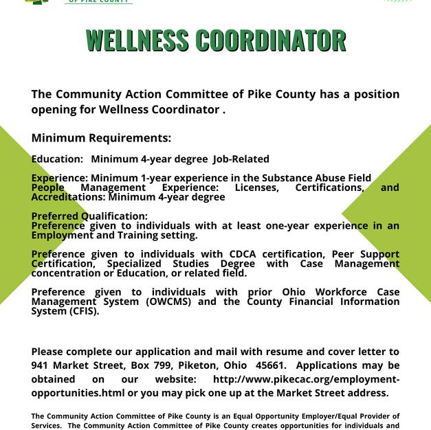 VVHC Wellness Coordinator