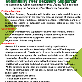 Community Peer Recovery Supporter