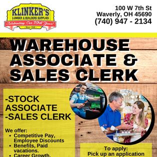Stock & Sales Clerk