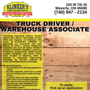 Truck Driver & Warehouse
