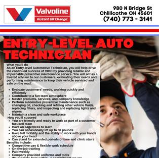 Entry-Level Auto Tech