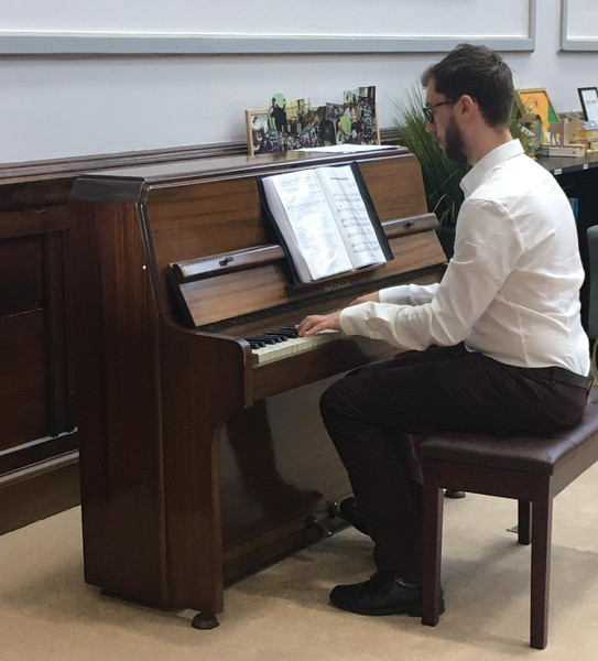 Stephen playing a concert